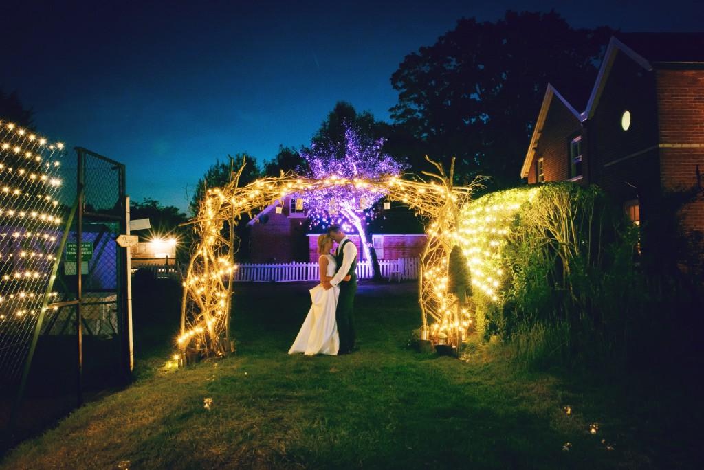 wedding evening beautiful lights