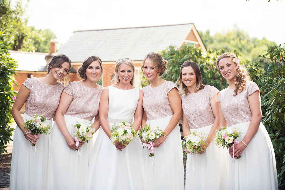 bridesmaid dress ideas white and pale pink