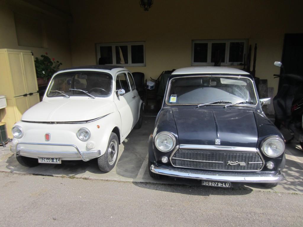 1970's mini cooper and Fiat