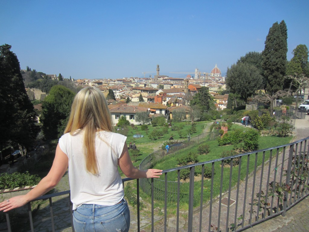 view over florence gardens and city