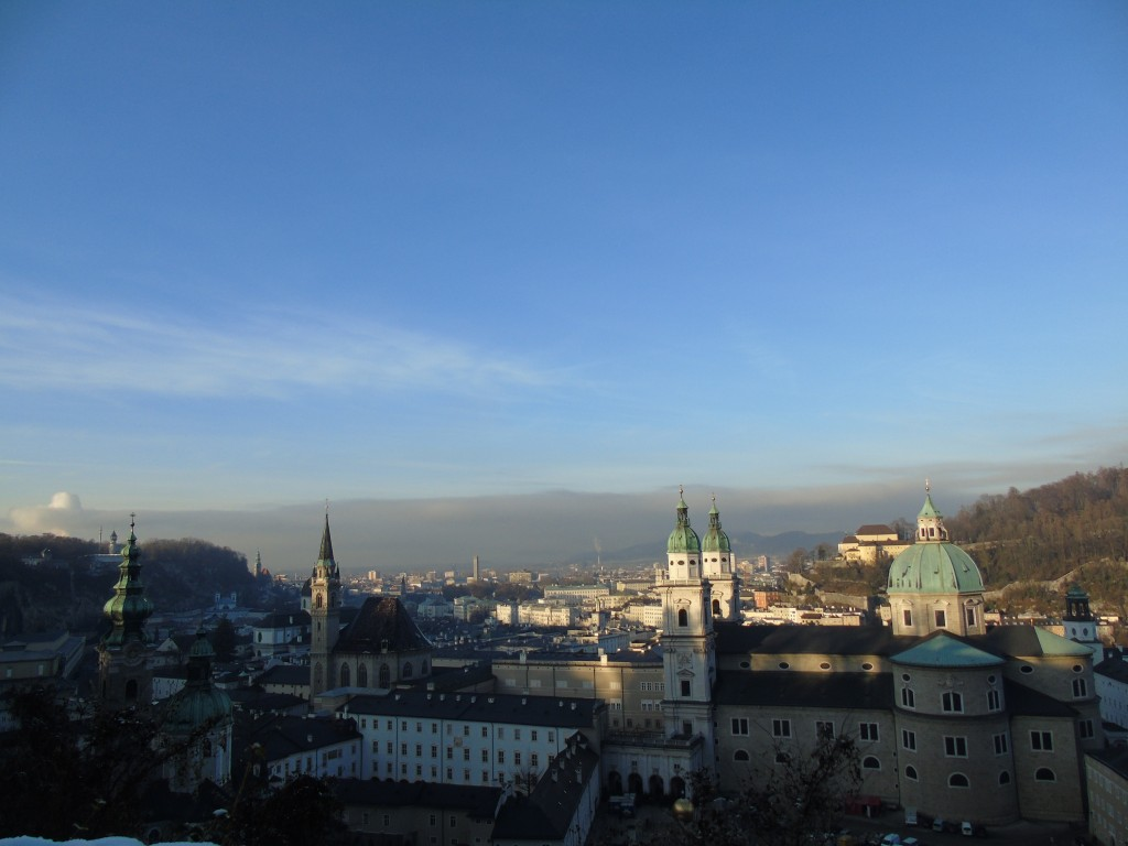 view of salzburg city from above