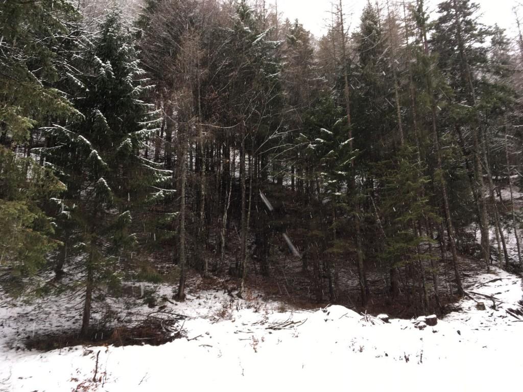 snow in austria mountains christmas day