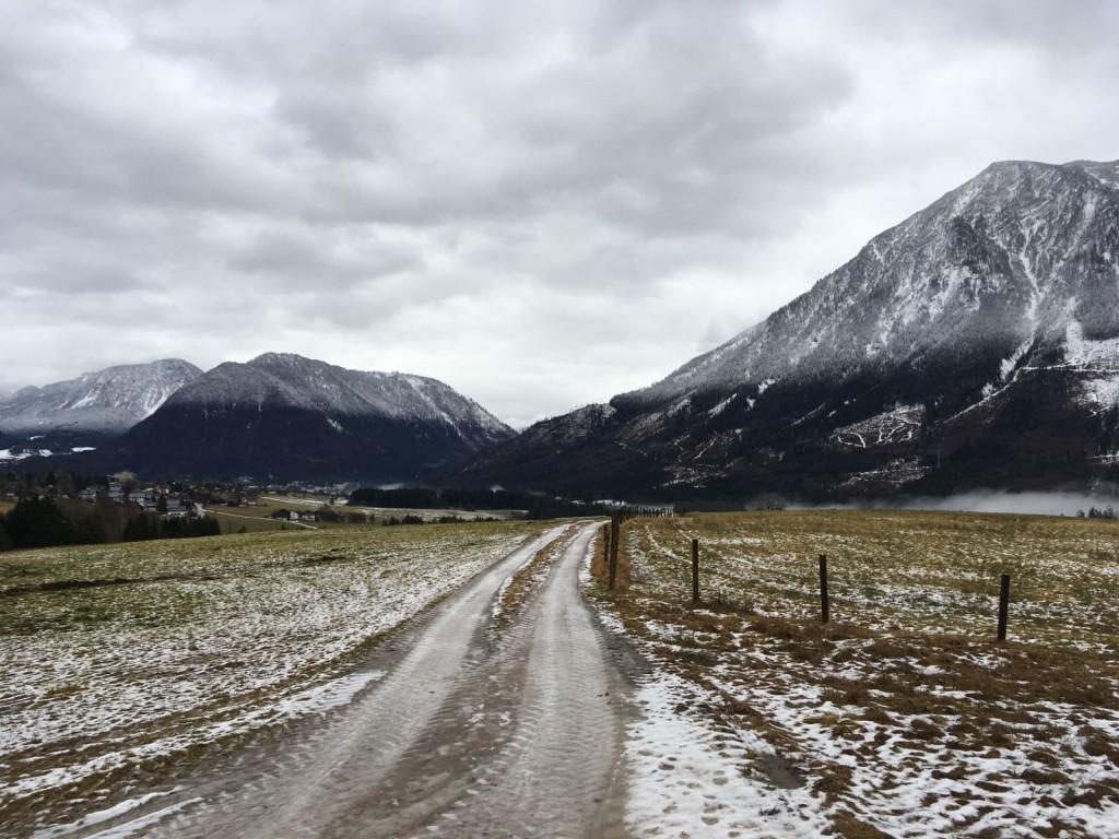 austria bad aussie view mountains snow