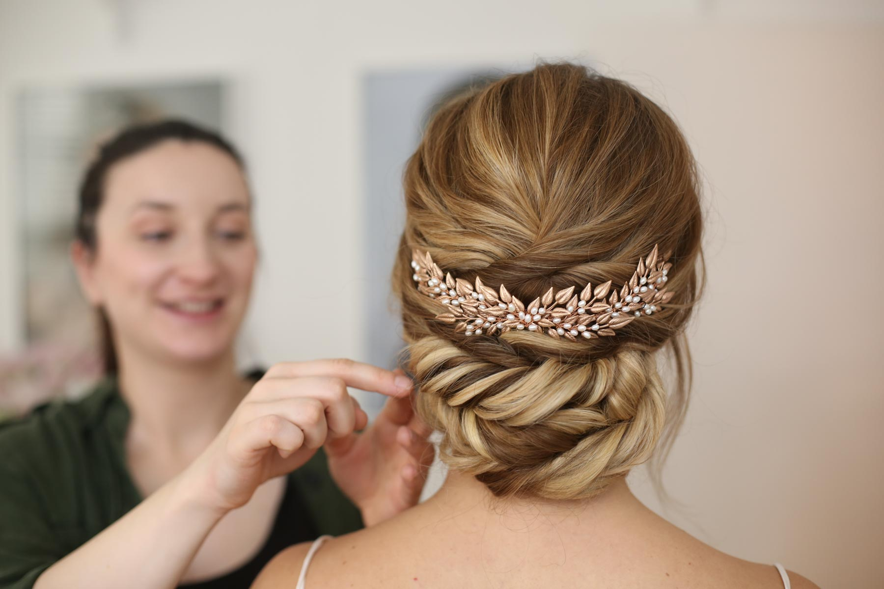 The Romantic Updo With Statement Headpiece For A Modern Stylish Wedding