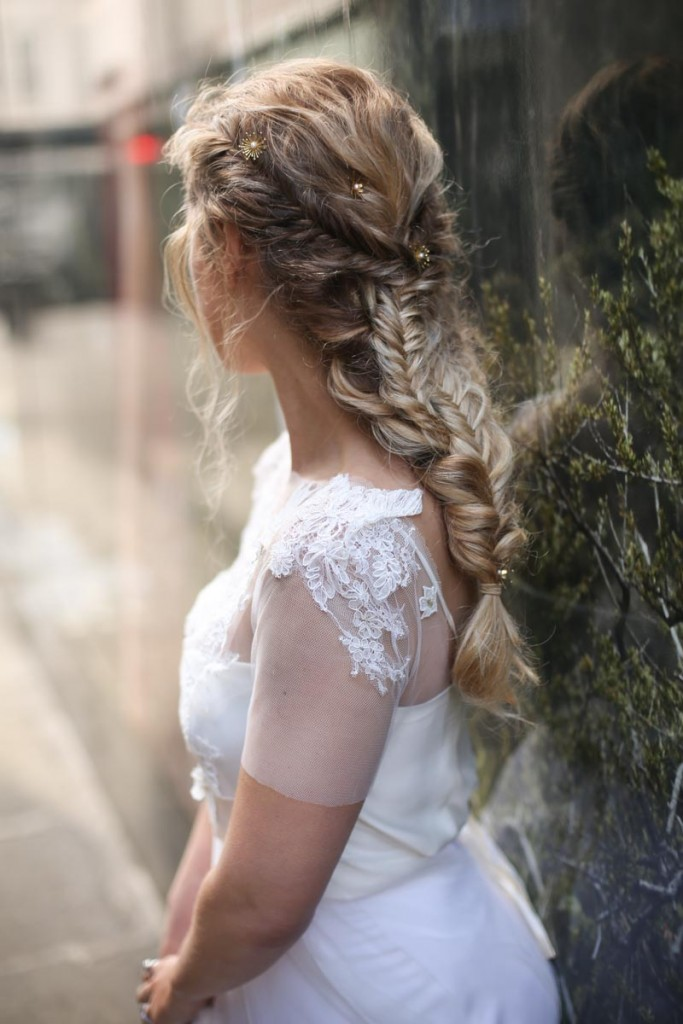 wedding hair bridal plait fishtail braid