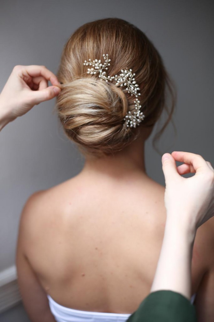 kelly spence hair piece low bun wedding hair ideas