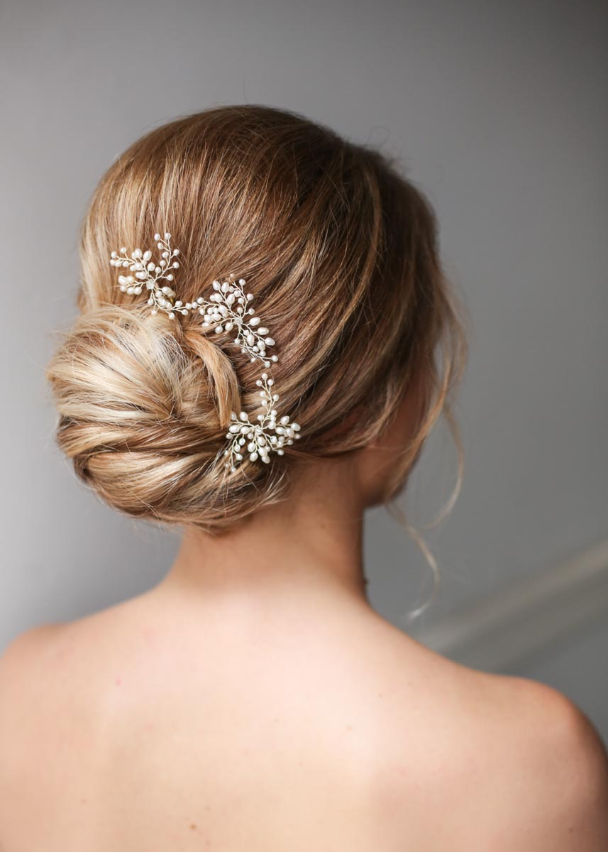 Low Neat Bridal Bun Wedding Hair With Hairpeace Kelly Spence