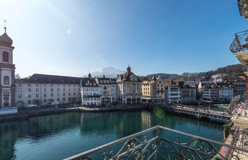 hotel des balances lucerne balcony room over river view