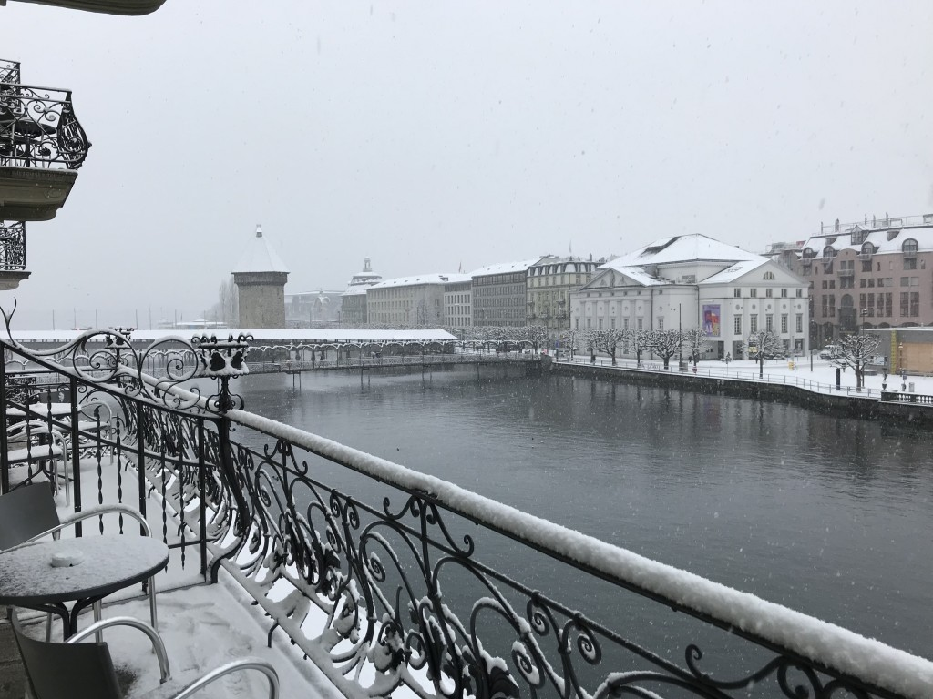 lucerne in the snow