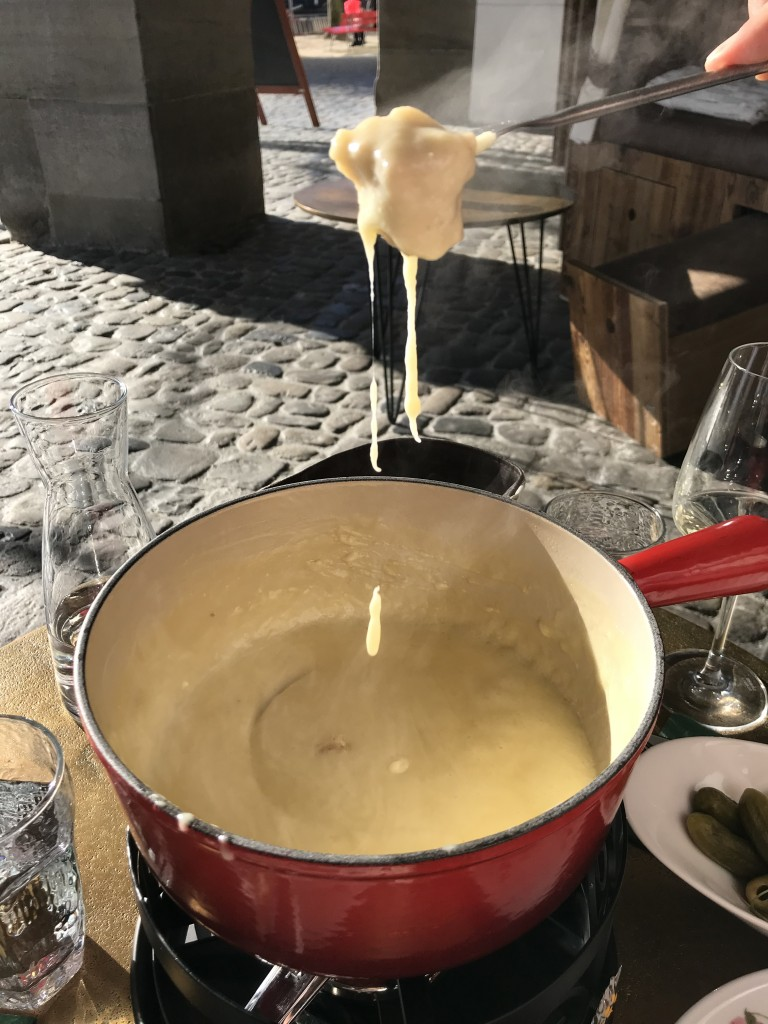 cheese fondue switzerland lucerne restaurant