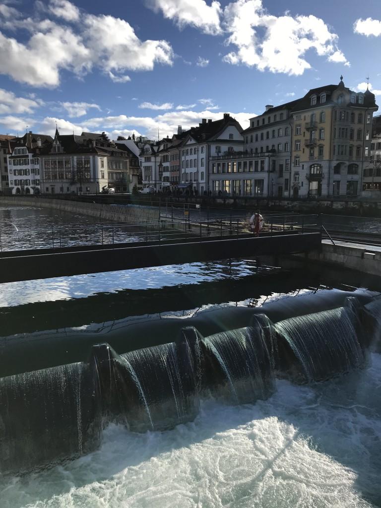 Lucerne river dam