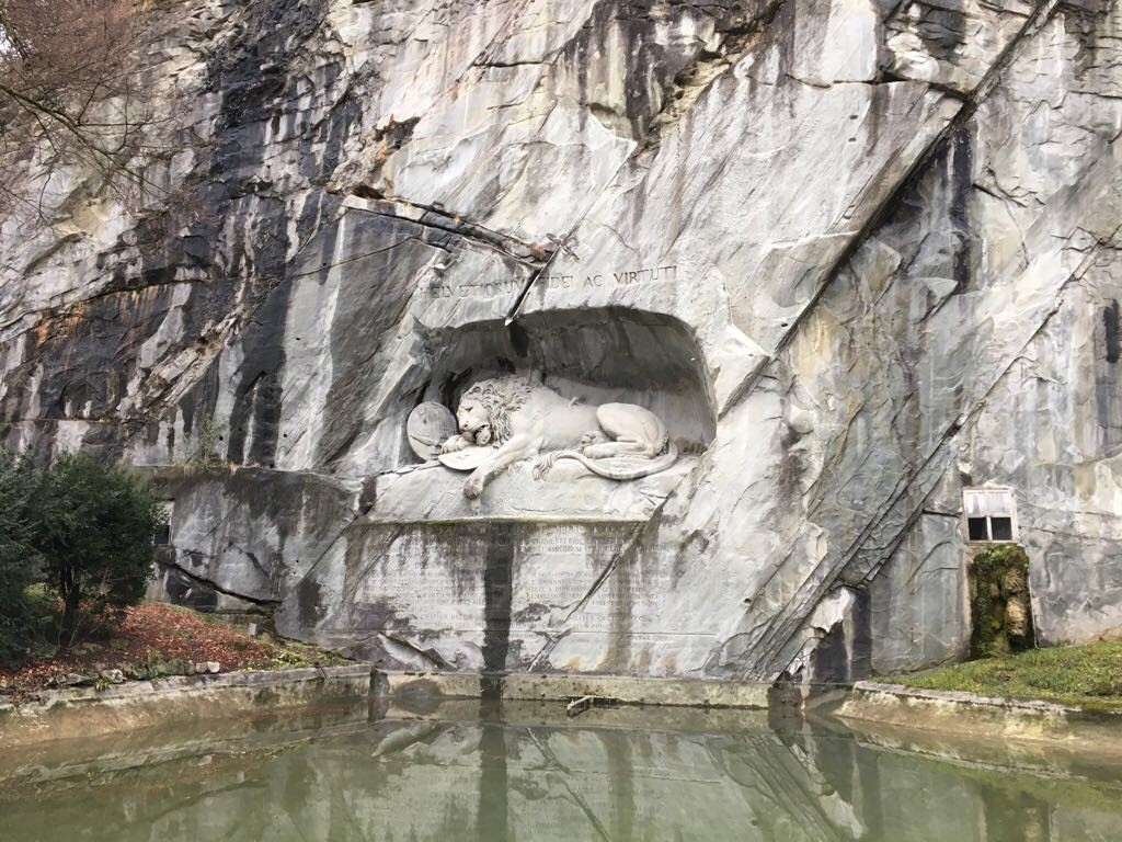 lion statue in Switzerland