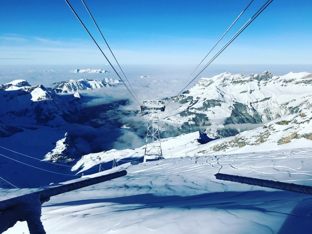 mount titlis engelberg best views mountains amazing sky clouds snow