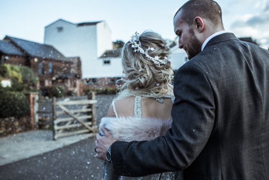 wedding photographer uk surrey winter wedding