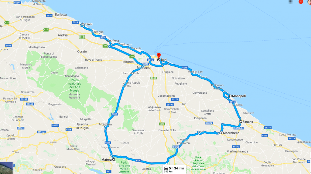 route around puglia where to visit