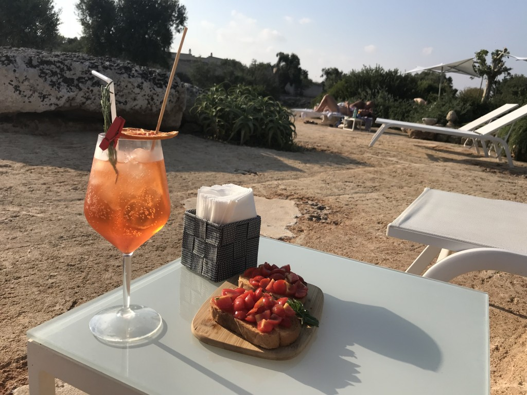 masseria san francesco puglia hotel with pool aperol spritz