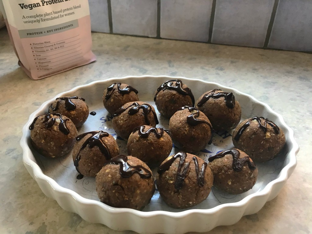 ginger walnut date choc protein energy balls healthy snacks
