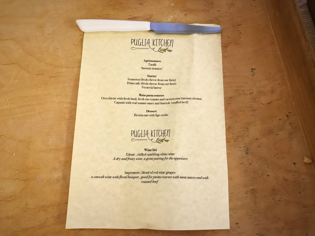 private chef menu