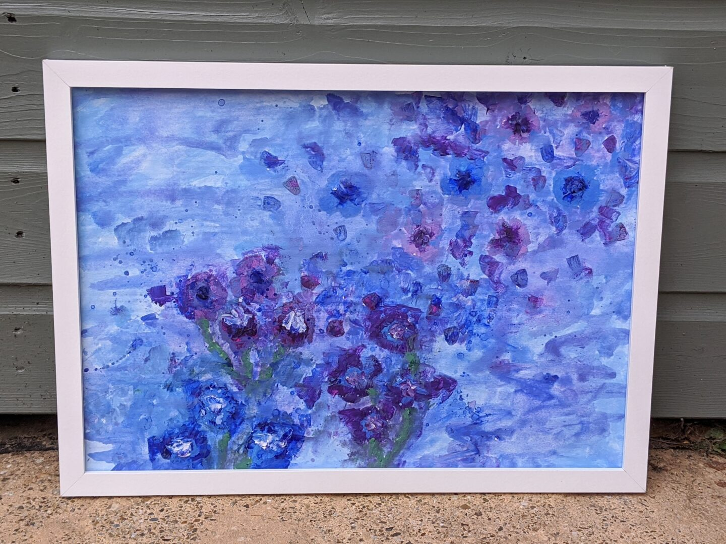 abstract art flower painting the benefits of painting